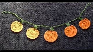 crochet garland - YouTube