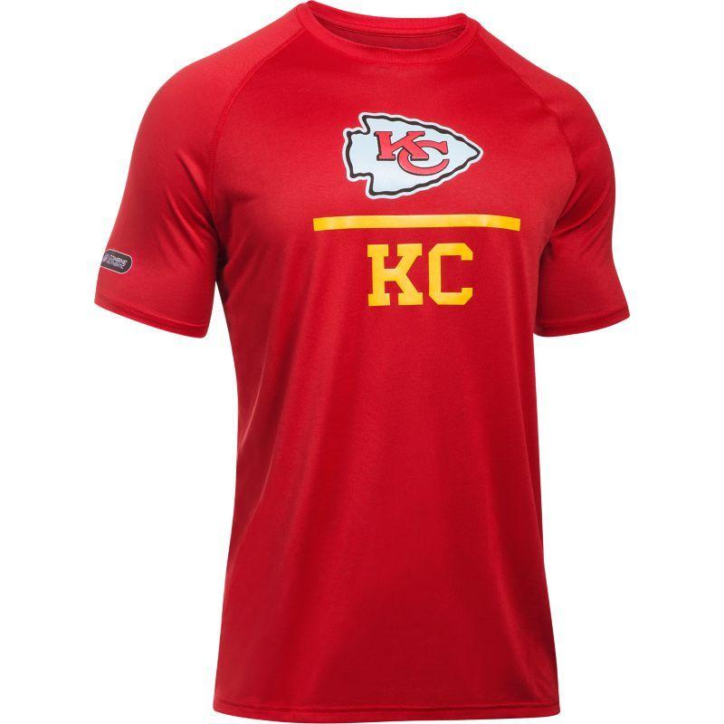 c0a8ab55 Under Armour Combine Authentic Men's Kansas City Lockup Logo Tech Red T- Shirt, Size: Medium, Team