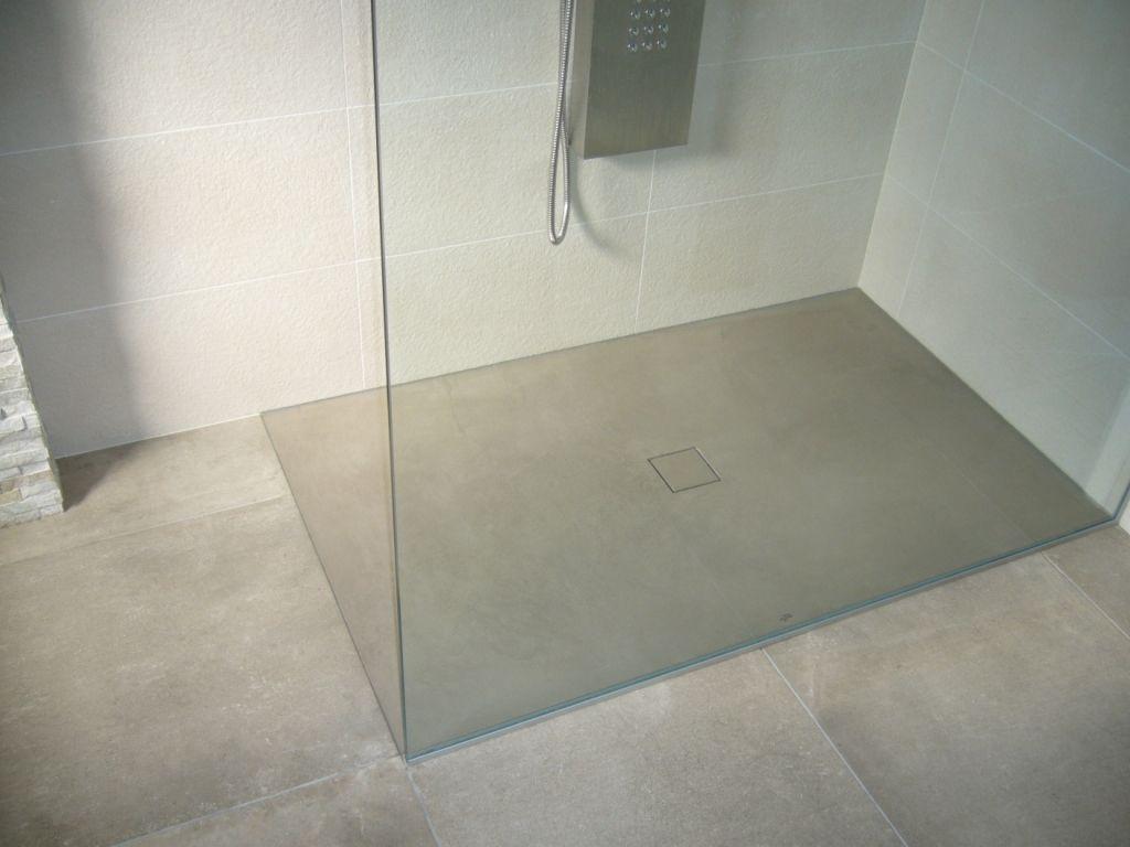 Badezimmer betonoptik ~ Boden dusche realisiert mit béton ciré original no. 42 michelle