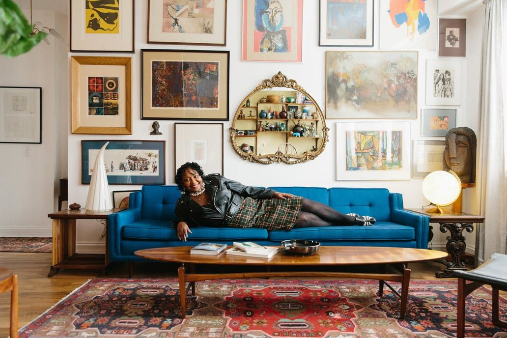 Vintage Furniture Store Owners Have a Stunning Chicago Home is part of home Art Apartment Therapy - Ty and Lynne are the owners of the awardwinning furniture store An Orange Moon, located in the West of Western district of Chicago