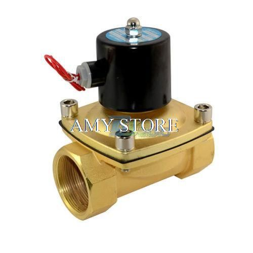 2w500 50 Solenoid Valve Bsp 2 Dc12v Dc24v 24vac Ac110v Ac220v Ac380v Direct Water Air Oil Gas Normally Closed Electric 2w Plumbing Hardware