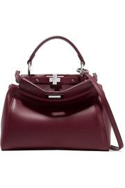 2980e17528a5 Fendi Peekaboo mini leather shoulder bag