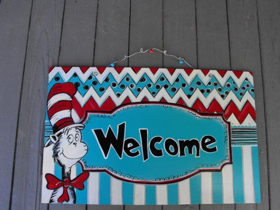 Teacher Door Sign Dr SeussKids Room Door SignClassroom Door