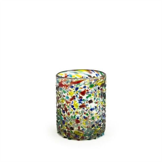 Confetti Recycled Tumbler Glass--made with recycled soda bottles, each is handcrafted.