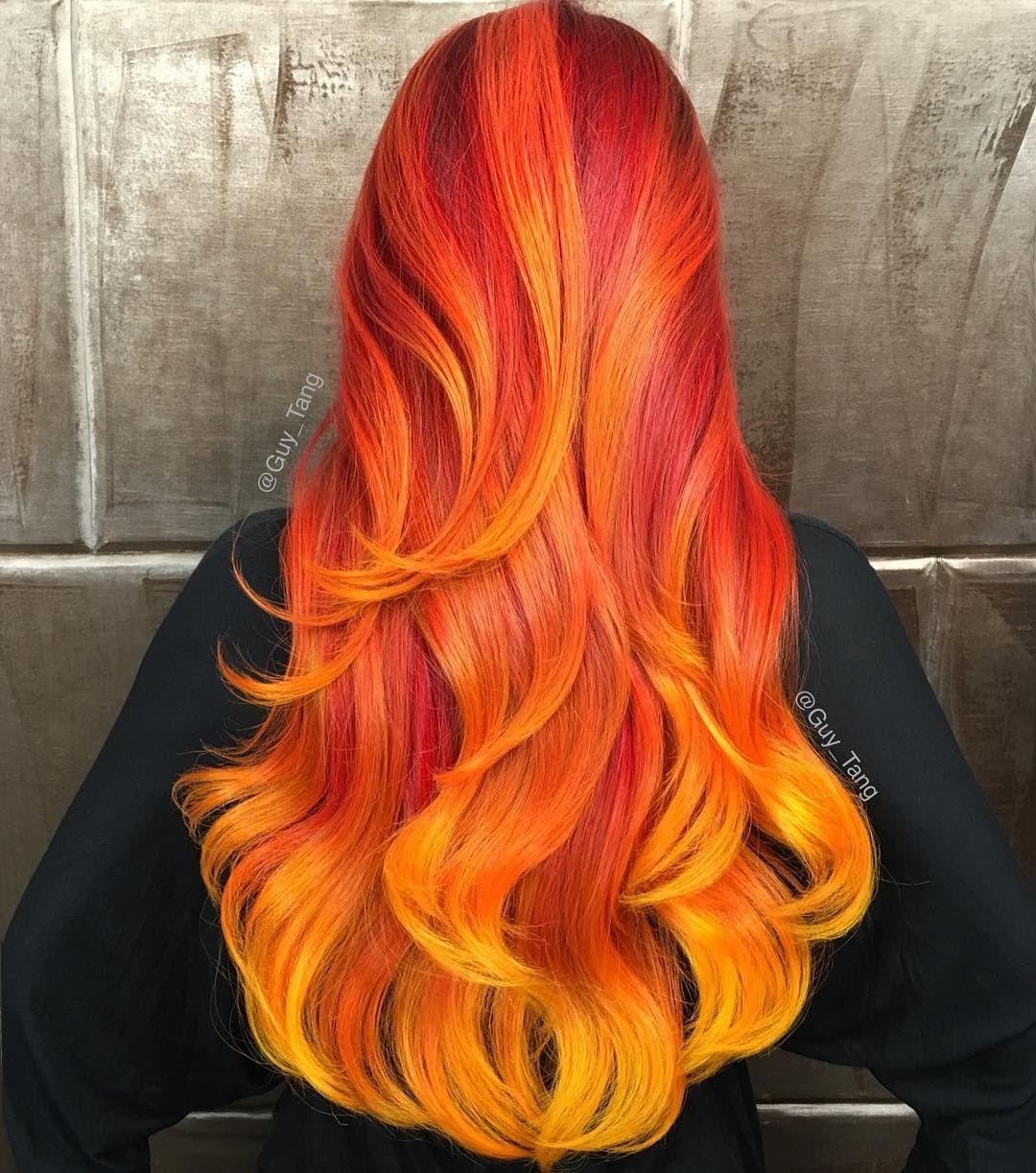 Cool boy hair dye orangehair syntheticwigs ombrehair halloweenhairstyle  hair