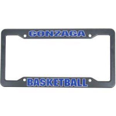 Gonzaga Plastic License Plate Frame Gonzaga Basketball Sports