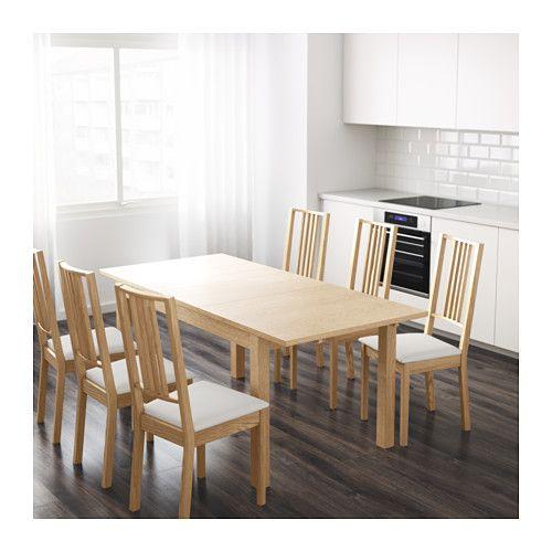 BJURSTA Mesa extensível - chapa de carvalho - IKEA | Home Sweet Home ...