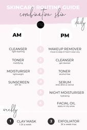 Photo of Simple and easy skincare routine guide for combination skin that will help you g…