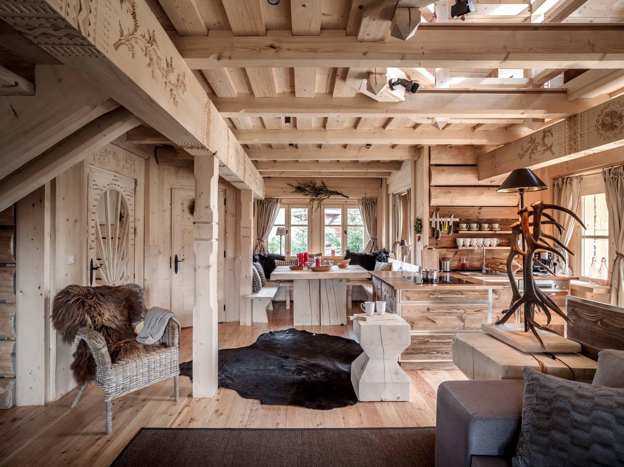 совсем лофт в деревянном доме из сруба фото одной партии