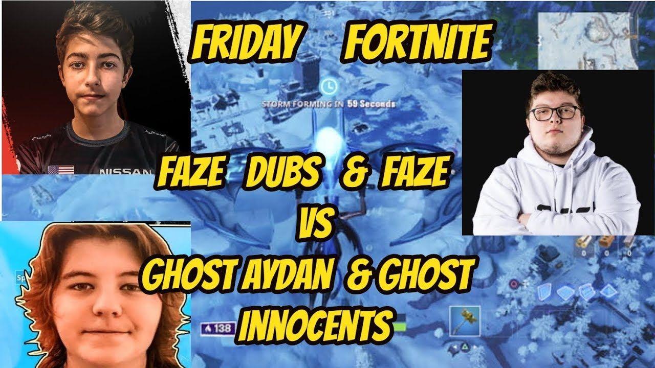Ghost aydan innocents vs faze megga dubs fortnite