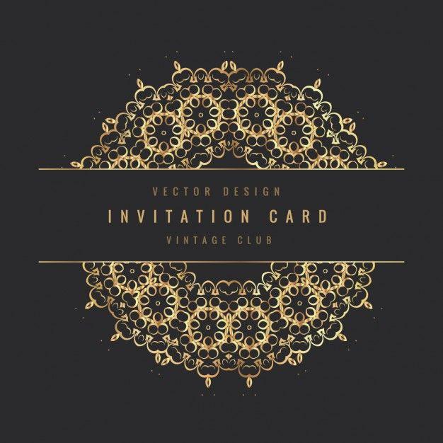 Download Vintage Invitation Card For Free Retro Invitation Vector Free Vintage Invitations