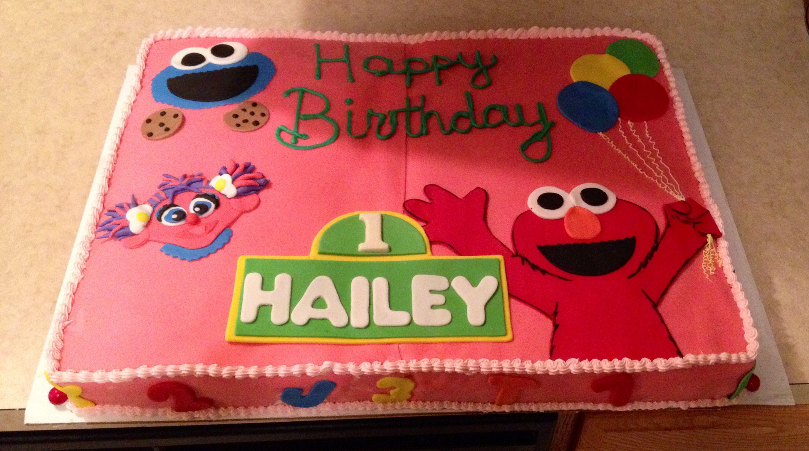 Birthday Elmo Cookie Monster Abby Cadabby Cake