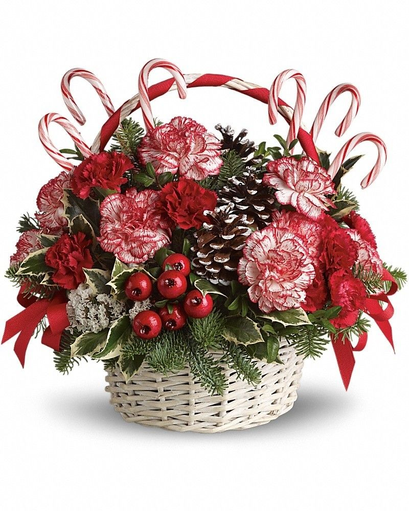 Candy Cane Christmas Christmas flower arrangements