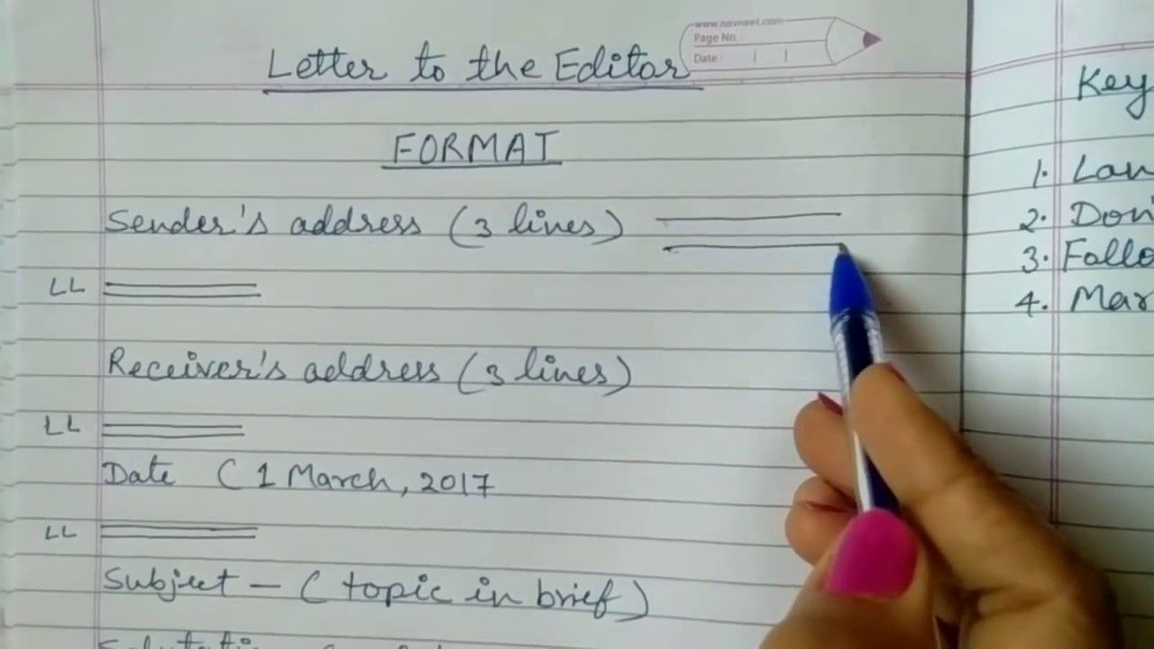 Format Of Formal Letter In English Class 10 from i.pinimg.com