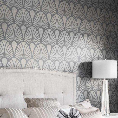 Art Deco Stencils - Glamorous Wall stencils instead of wallpaper ...