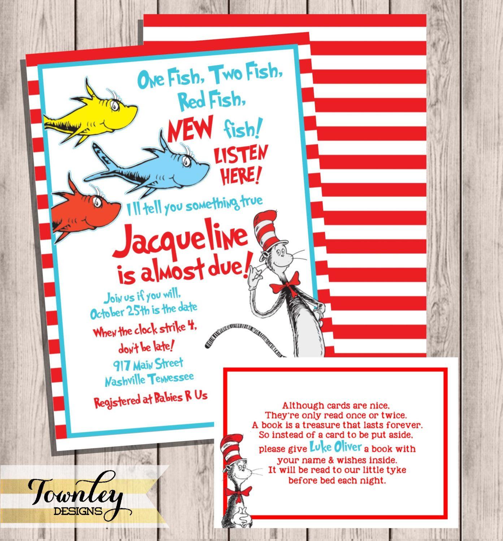 Dr. Seuss Baby Shower Invitation, Baby Shower Invite, Dr. Seuss ...