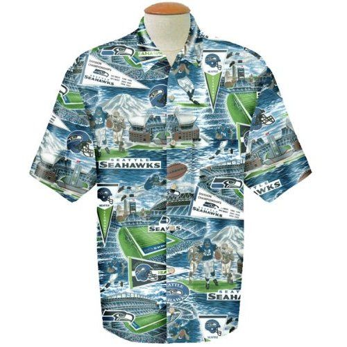 Amazon.com   Seattle Seahawks Reyn Spooner Hawaiian Shirt   Sports Fan T  Shirts   Sports   Outdoors 6c8925678