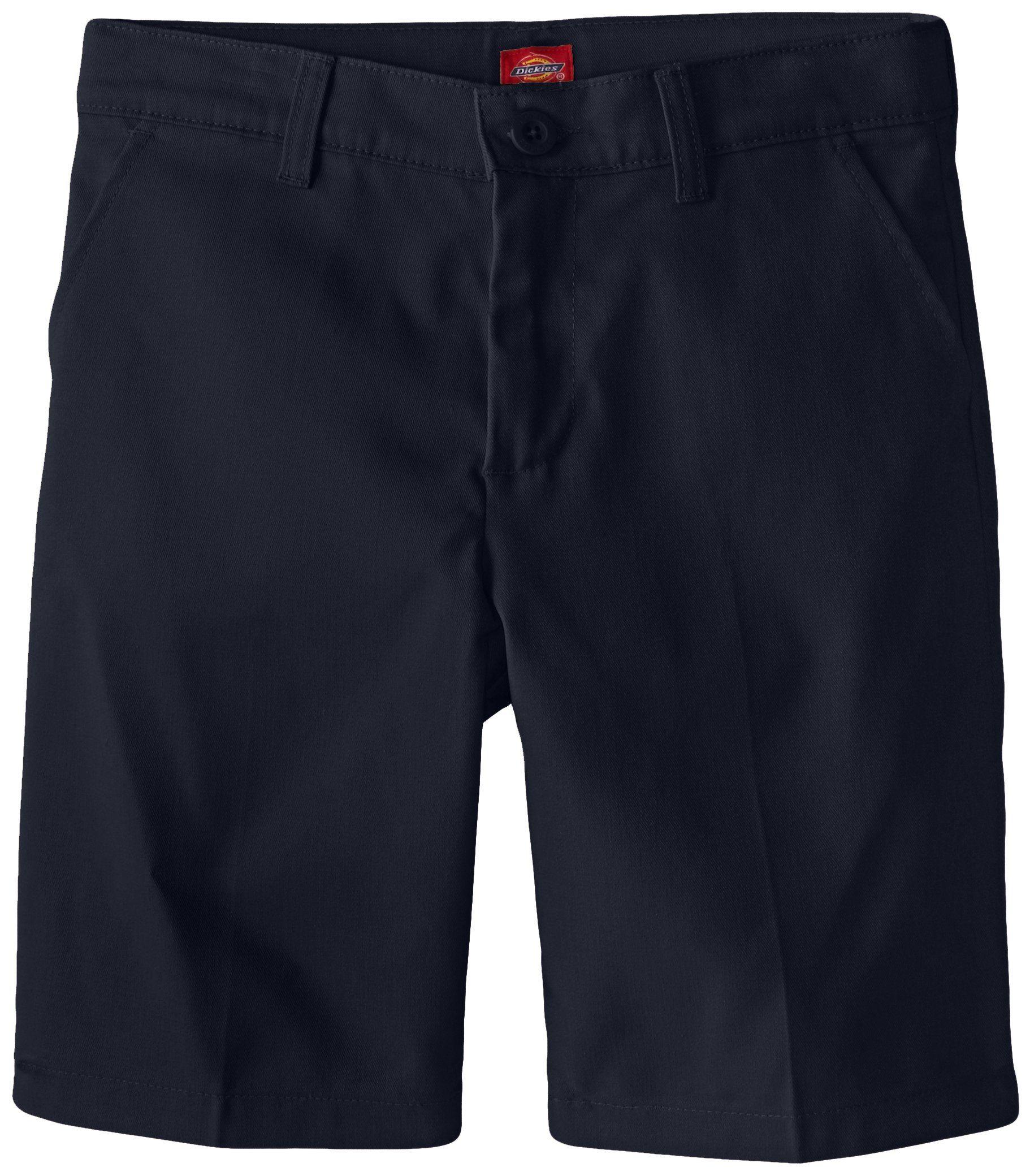 Dickies Girl Big Girls' Flex Waist Slim Fit Flat Front Short, Dark Navy, 12