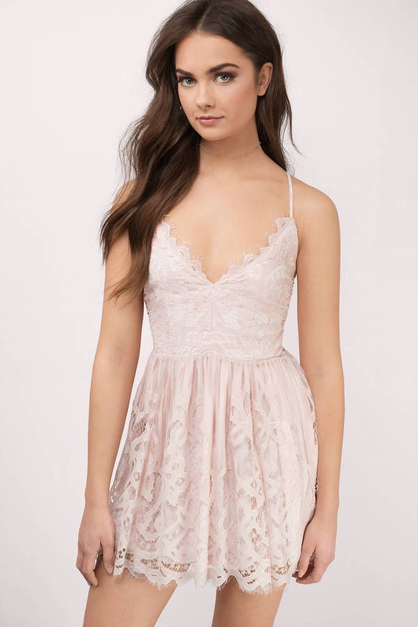 You ll fall in love with the Sera Lace Skater Dress. Featuring a plunging  neckline and lace dress. Pair with stilettos and statement jewelry. 43ea057e4