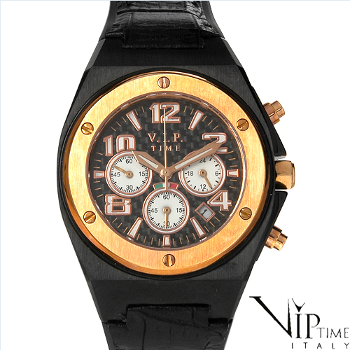VIP TIME ITALY Brand New Gentlemens Chronograph Date Watch