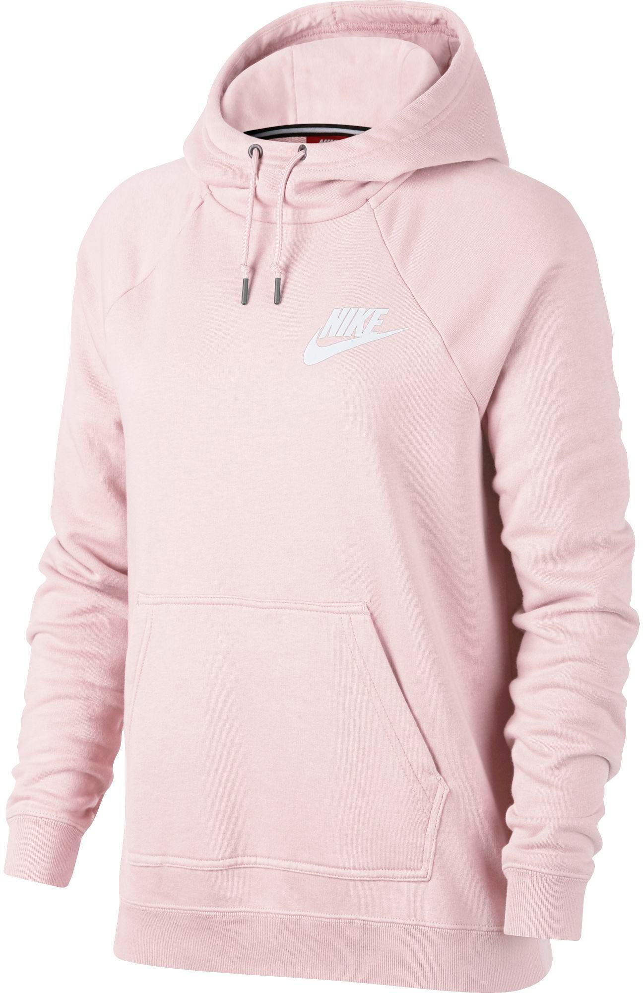 Nike Women's Sportswear Rally Hoodie, Size: Medium, Pearl