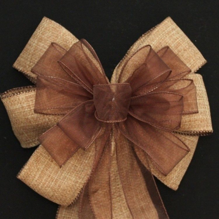 Simple Wedding Church Pew Decorations: Instead Of Dark Brown In Center Perhaps Turquoise Ribbon