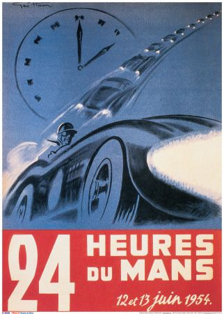 June 1954 Le Mans 24 hours, France. June 16-17, 2012: celebrating its 80th Anniversary.