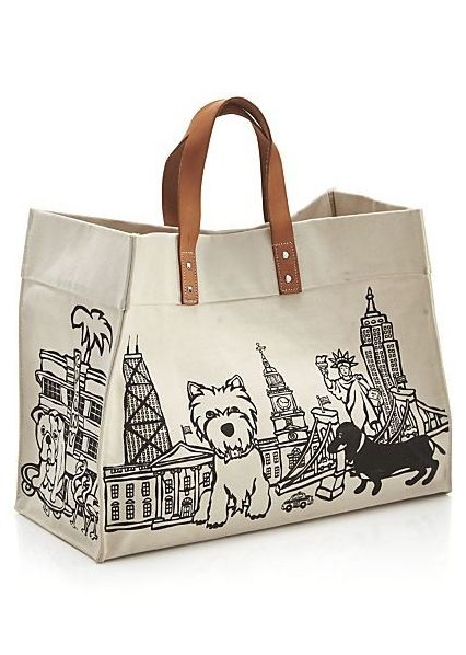 f8abaf67cd3f7 Canvas Tote Bag by Marc Tetro | My Style | Westies, Bags, Dog items