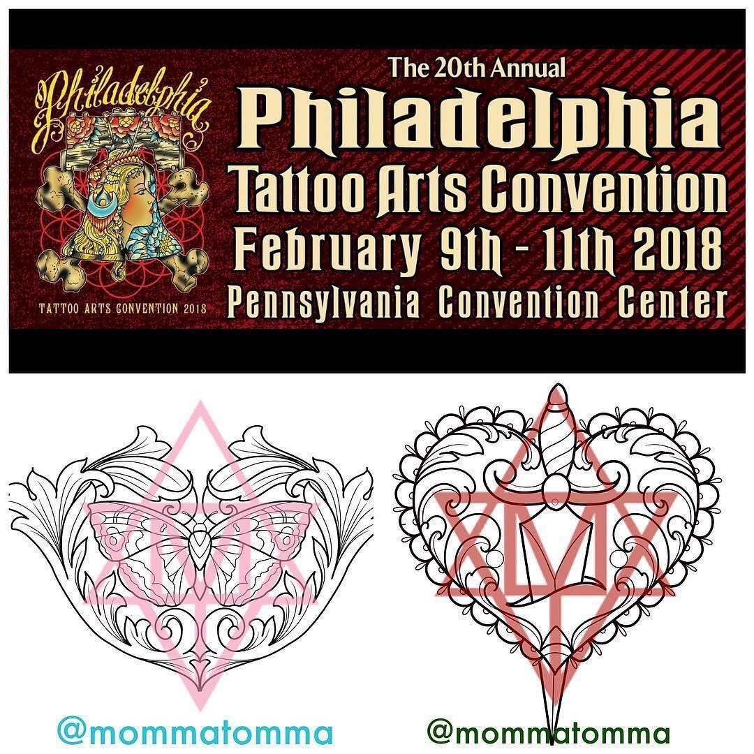#repost from @anatomytattoo  @mommatomma cant wait to return to #philly in a few weeks for the @villainarts #philadelphiatattooartsconvention! Her books are filling up so if you are interested in booking for the #phillyconvention2018 visit her at www.tattoosbytomma.com. She will have #stickers for sale and will also have a book of original designs available to tattoo! #philadelphiaconventioncenter in #February #philly #philadelphia #philadelphiaeagles #philadelphiaconvention #villainartsconventi