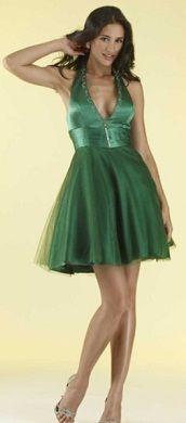 Vestidos de fiesta color verde cortos