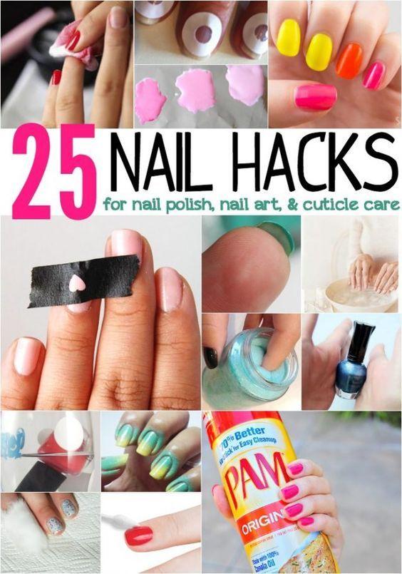 25 Nails Hacks For Nails Folish