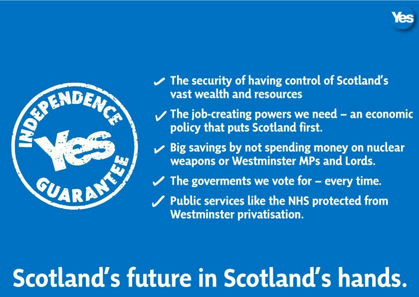 Our Own Future In Our Own Hands Independence Scotland Yes