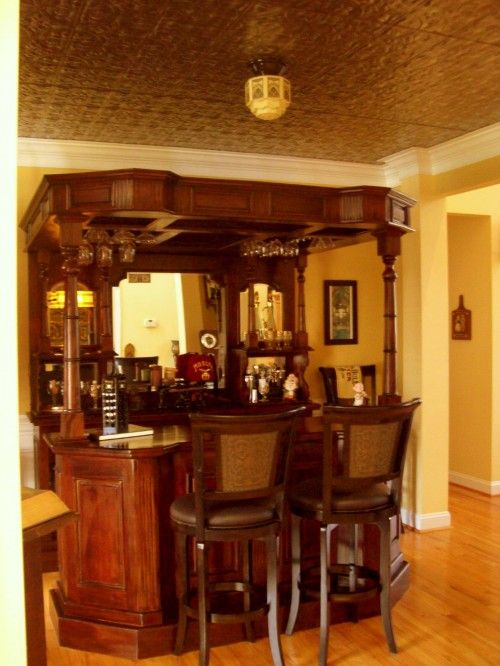 Dining Room Converted Into English Pub Love This And Want