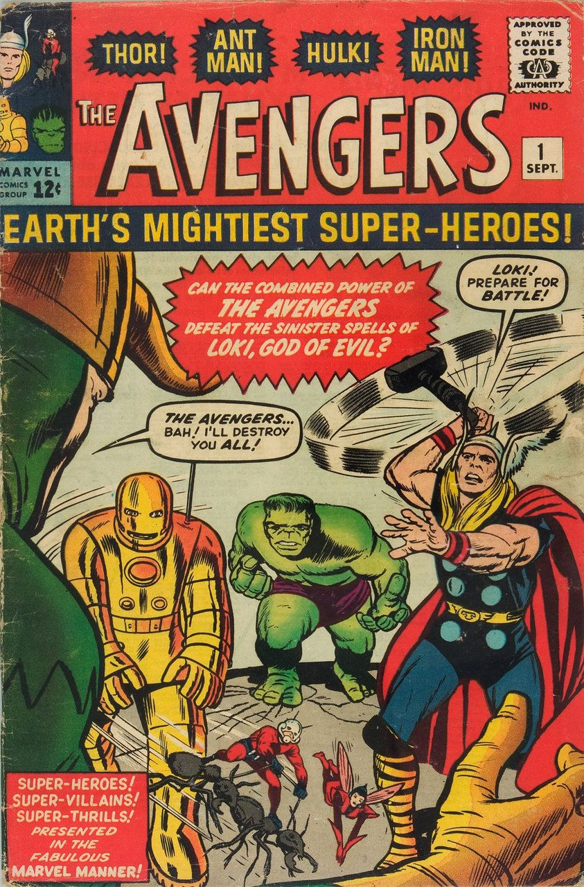 The Avengers, Issue No. 1, Marvel Comics. Jack Kirby