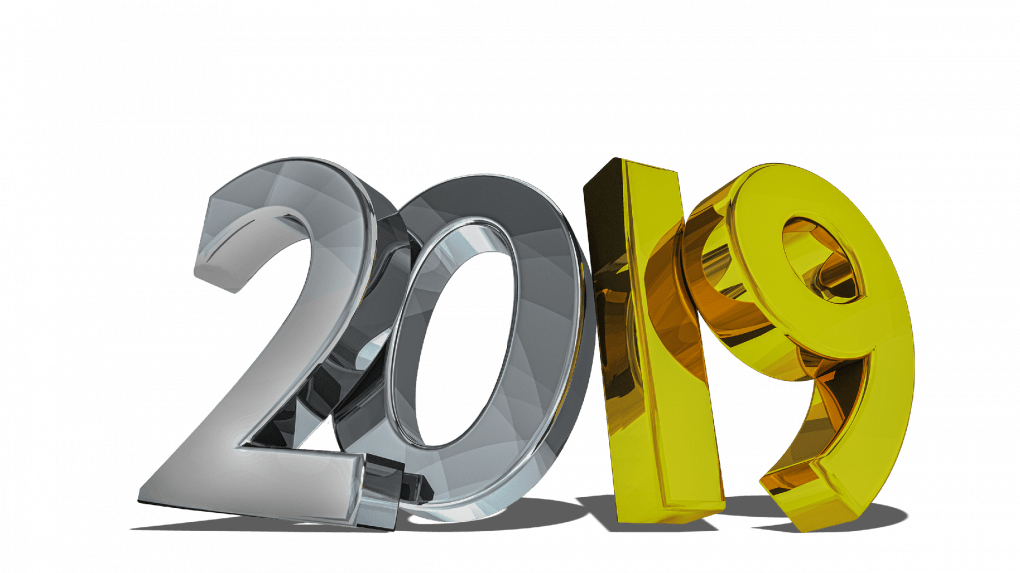 Happy New Year 2019 Text PNG Download New Year Text Images ...