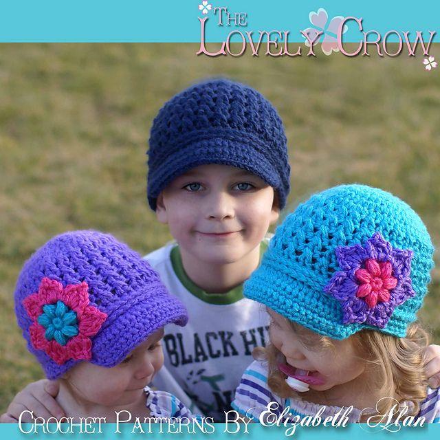 Little Sport Newsboy Hat Pattern By Elizabeth Alan Yvonne