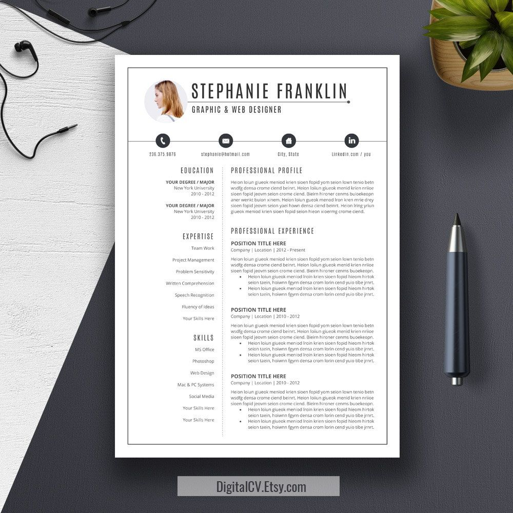 2019 cv resume templates  cover letter template  digital editable word resume for arts  u0026 design