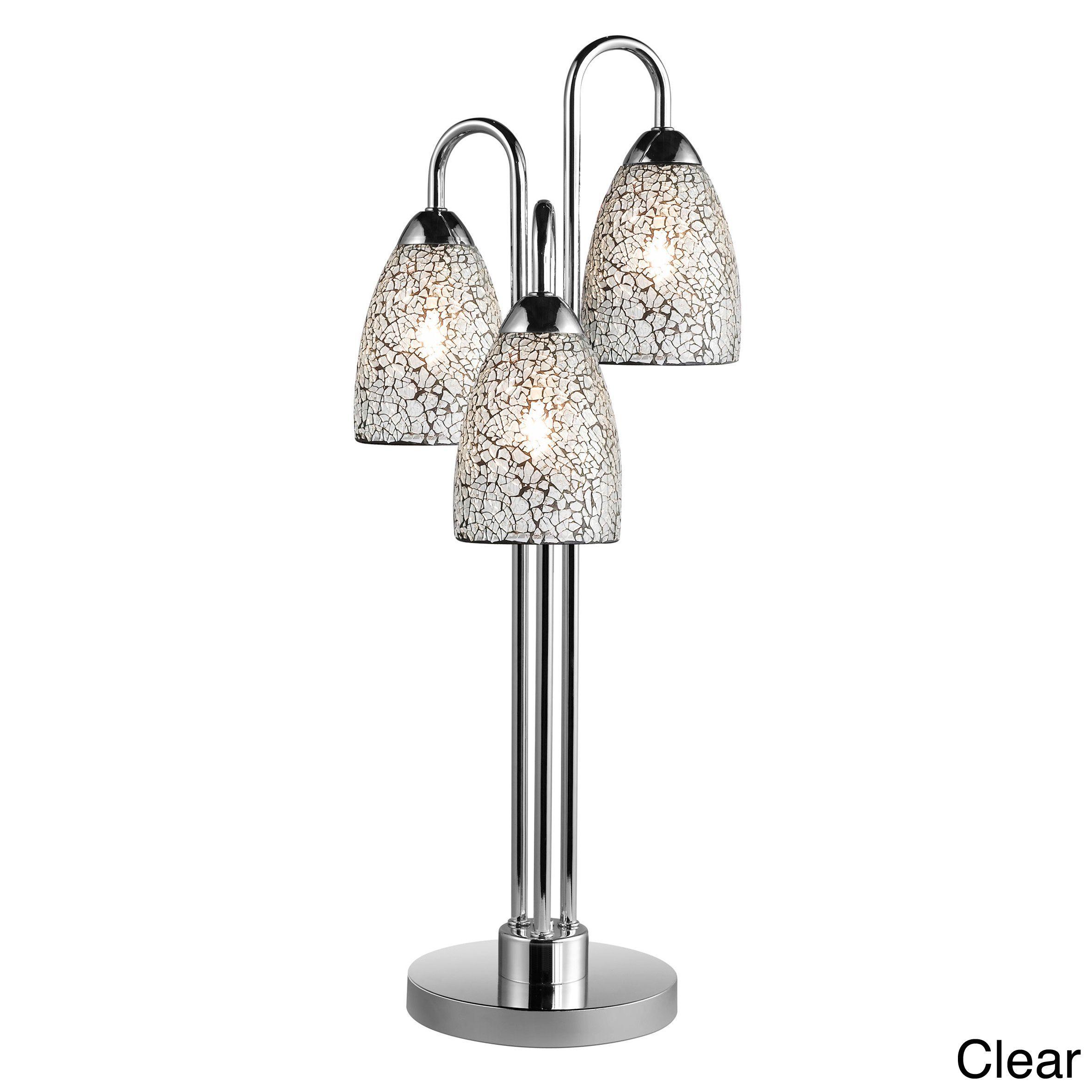 Woodbridge Lighting Venezia 3 Light Mosaic Glass/ Chrome Table Lamp (Clear)