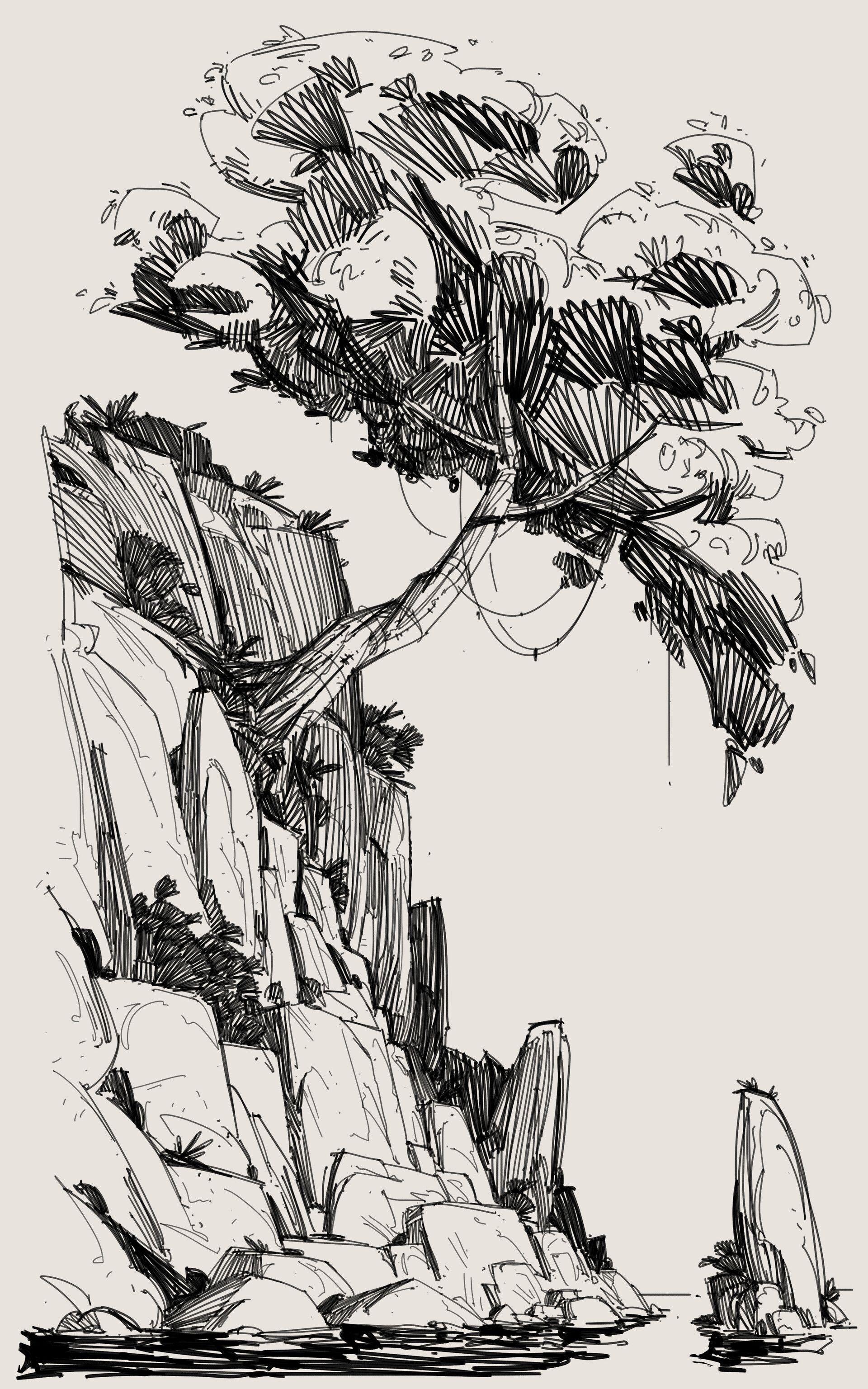 Daily Sketch - Sea Rocks, George Brad