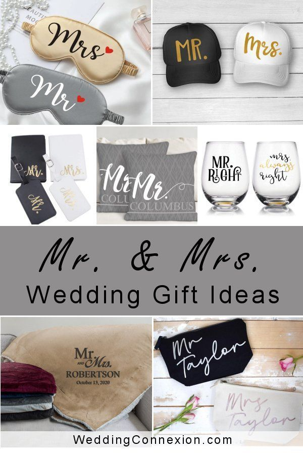 In search of lovely Mr. and Mrs. Wedding gift ideas? Whether you prefer a practical gift that will help the new couple spend more time together, or wish to simply bring a smile to their faces, we've got you covered! WeddingConnexion.com