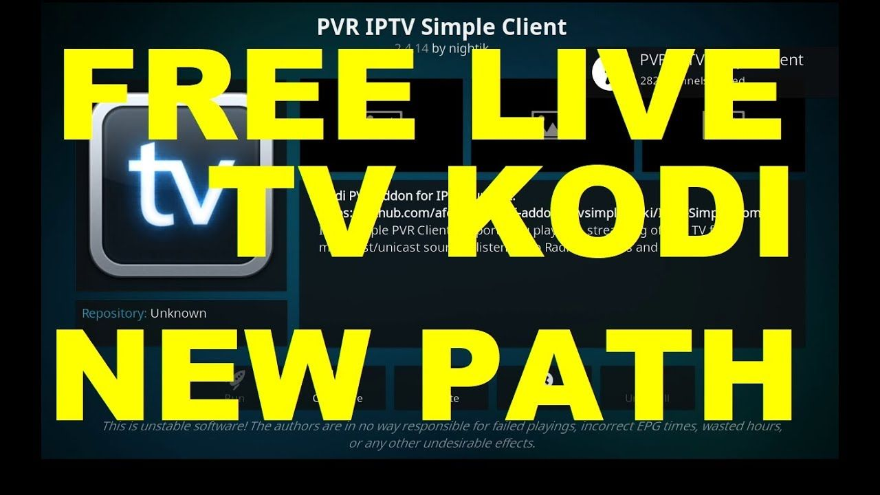 Free Live TV New Source, PVR IPTV Simple Client Kodi 17 6