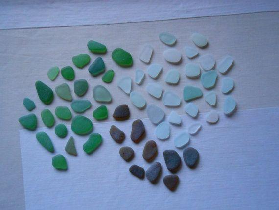Autentico vetro di mare 60 pezzi nei toni di lepropostedimari
