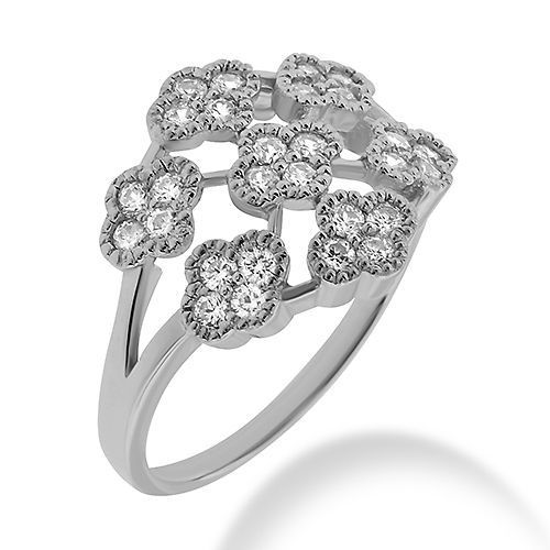 Jewelry Point - Fine 0.70ct Diamond Cocktail Flower Ring Gold Platinum, $915.00 (http://www.jewelrypoint.com/fine-0-70ct-diamond-cocktail-flower-ring-gold-platinum/)