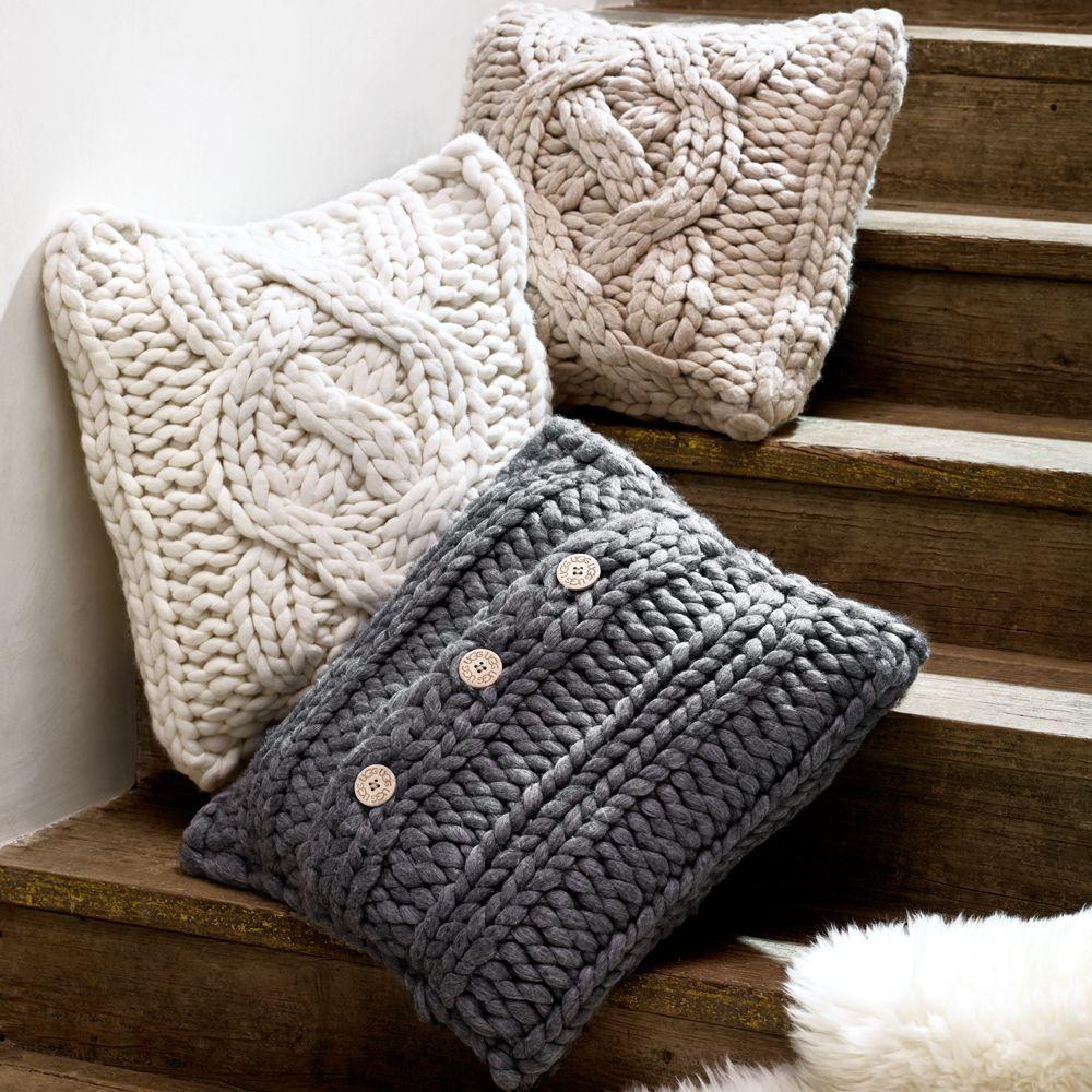 "Ugg Australia Oversized Knit Decorative Pillow, 20"" x 20"