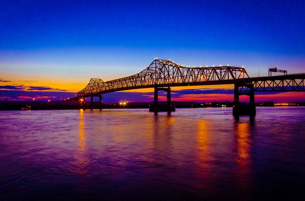 Mississippi River New Orleans Louisiana Mississippi River Bay Bridge