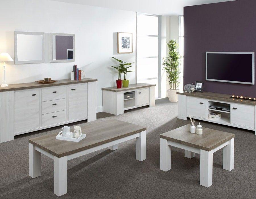 Table Basse Contemporaine Coloris Chene Fonce Et Chene Clair Reno Table Basse Contemporaine Table Basse Mobilier Design