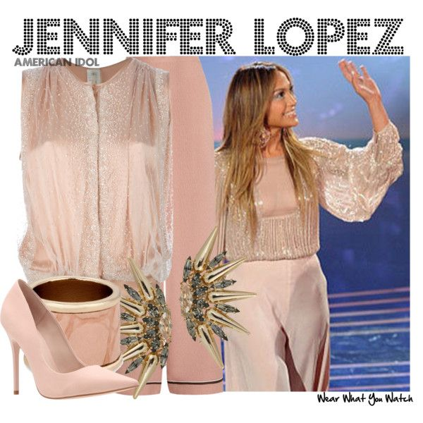 Inspired by Jennifer Lopez's outfit for the February 19th, 2014 episode of American Idol, season XIII.