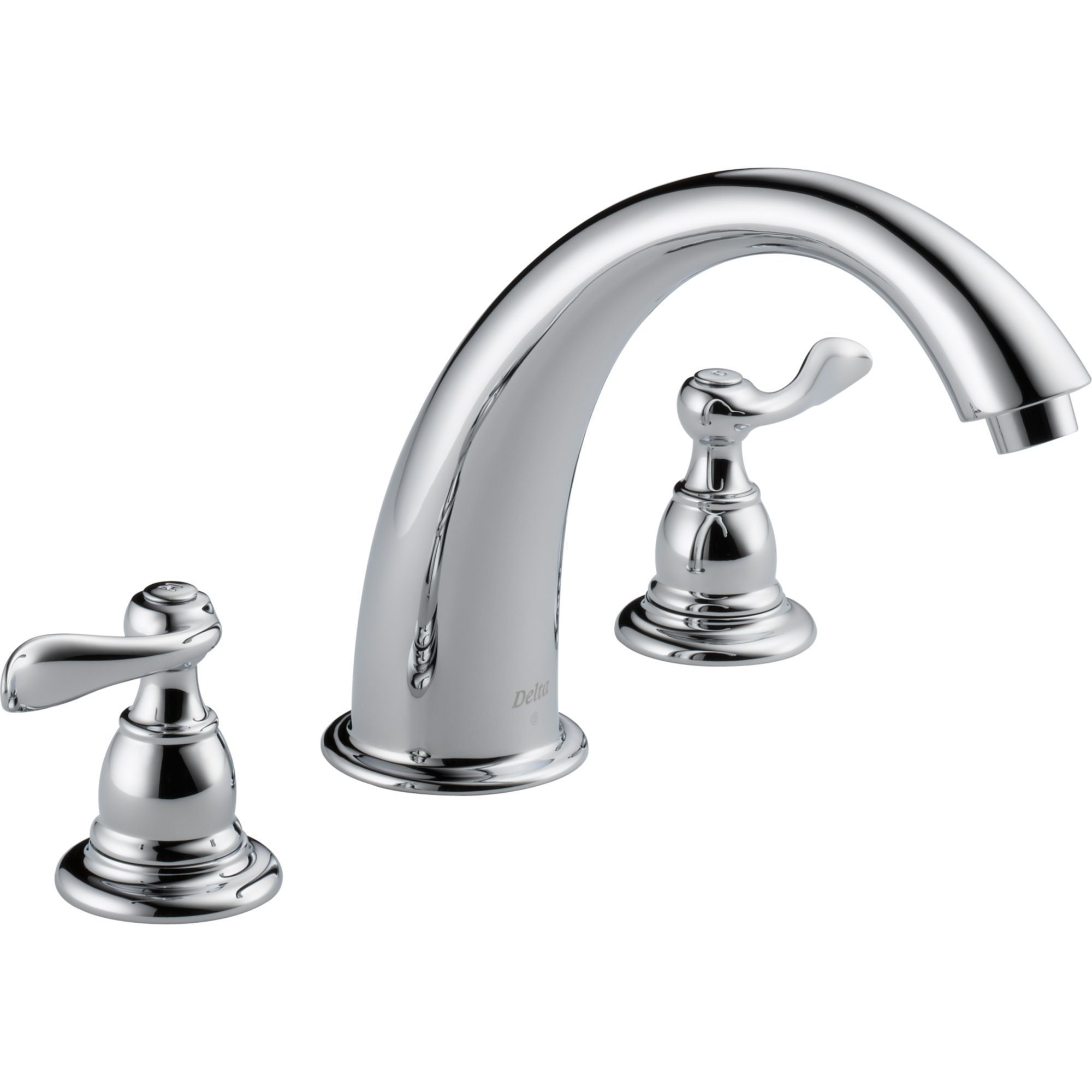 grey delta tub chrome roman trim water windemere series faucets pin
