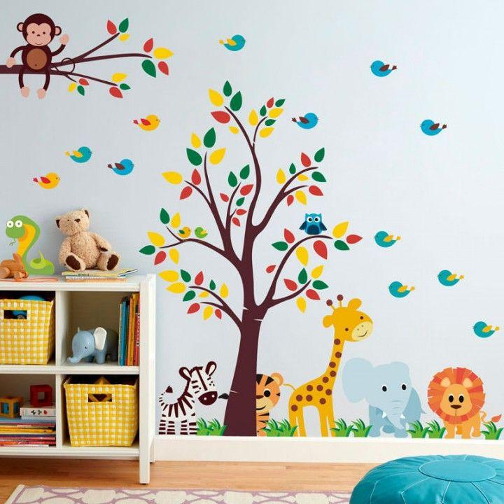 Adesivo Mesversario Natal ~ Adesivo de Parede Infantil Safari barnrum Pinterest