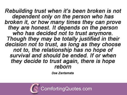 16 Quotes About Fixing Broken Trust Comfortingquotescom Words